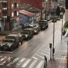 Convoi militaire dans la ville d'Oviedo (Espagne)