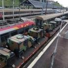 Convoi militaire en direction de Paris (France)