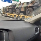 Convoi militaire en direction de Paris (France)