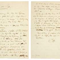 Lettre autographe signée par Charles Baudelaire à Philoxène Boyer. [Paris, 25 juin 1854]