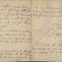 Lettre autographe signée par Philoxène Boyer à Henry d'Ideville. 26 [sic pour 27] janvier 1855.