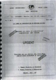 Projet REX-84, les projets de camps de concentration en Amérique du Nord