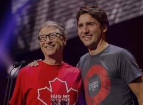 Bille Gates et Justin Trudeau