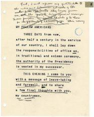 Discours de fin de mandat de Dwight D. Eisenhower