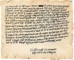 La lettre envoyée à Lord Monteagle