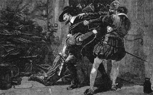 Les conspirateurs sont découverts et Guy Fawkes est pris dans les sous-sols du palais de Westminster avec les explosifs.