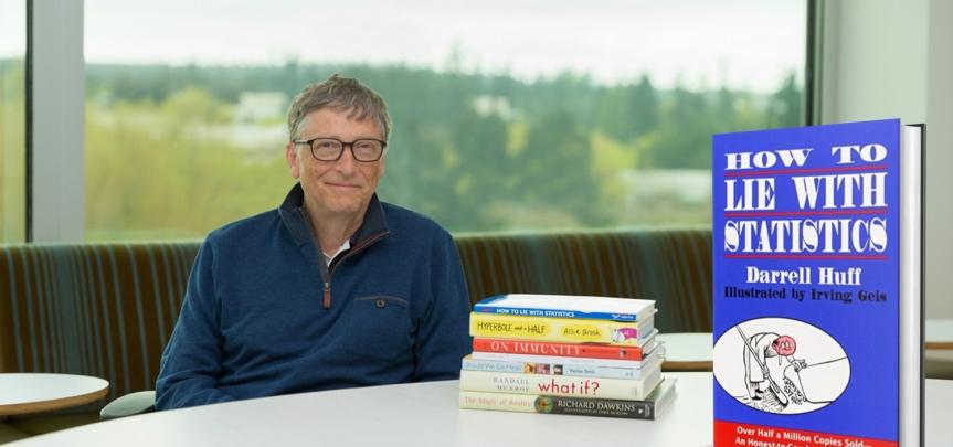 """L'un des livres préférés de Bill Gates en 2015 : """"Comment mentir avec lesstatistiques"""""""