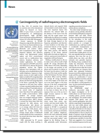Carcinogenicity of radiofrequency electromagnetic fields