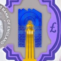 Le phare de Margate avec un rayon ondulatoire de type électromagnétique.