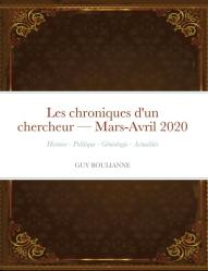 Les chroniques d'un chercheur — Mars-Avril 2020