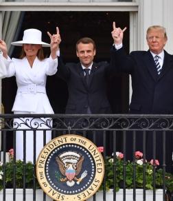 Macron, Trump, Evil