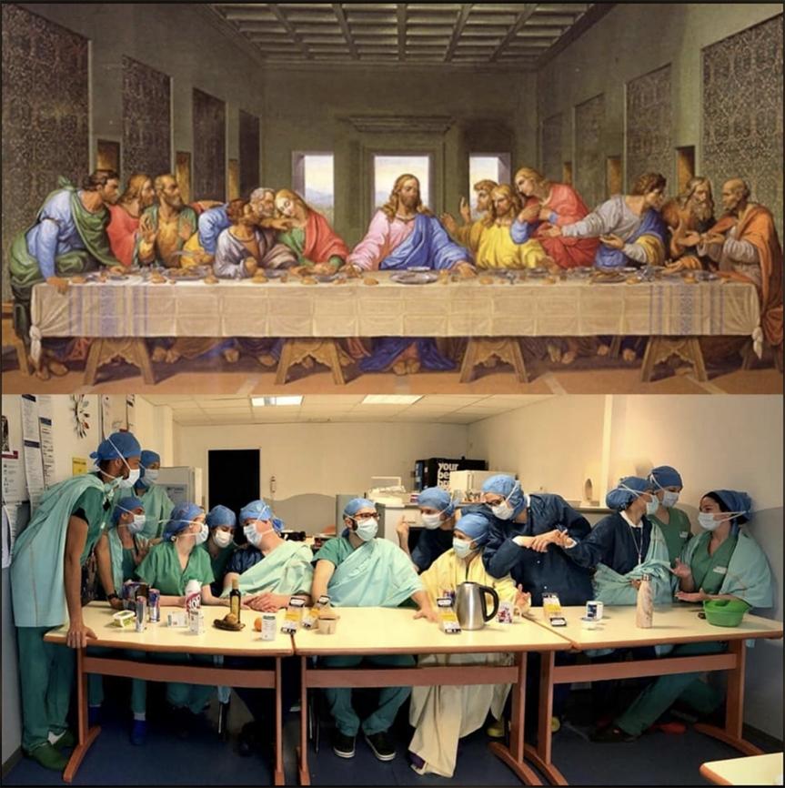 La Pitié Salpêtrière - La dernière Cène de Léonard de Vinci