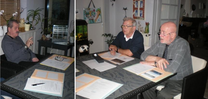 De gauche à droite sur la photo Bernard Berthelot, Ronald Guillaumont et Alain Martelle.
