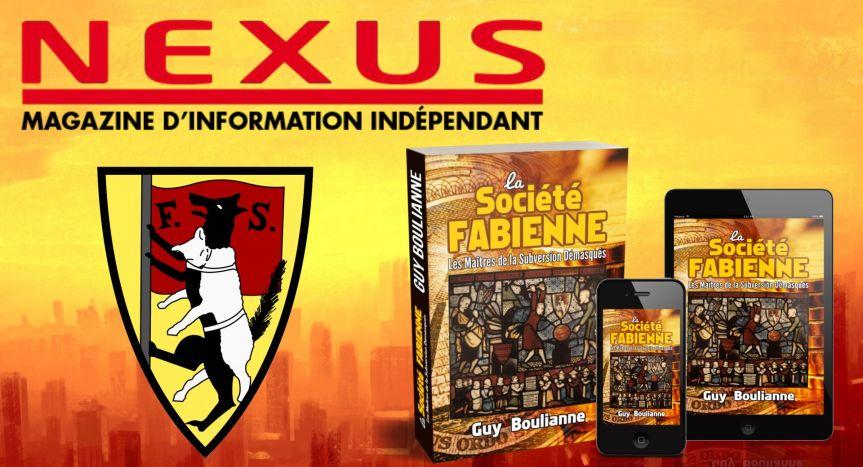 """Le livre de Guy Boulianne, """"La Société fabienne: les maîtres de la subversion démasqués"""", est présenté dans le magazineNEXUS"""