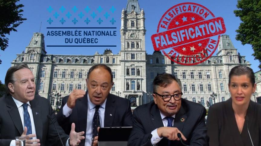 Arnaque à l'Assemblée nationale du Québec ? Les résultats de la pétition contre le projet de loi n° 61 sont falsifiés — Dépôt à uneavocate