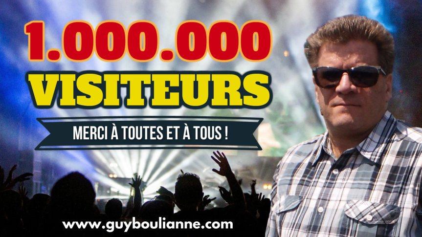 Célébration : Le site internet de Guy Boulianne a maintenant dépassé le cap de 1 000 000 visiteurs depuis sa création. Merci à toutes et à tous!