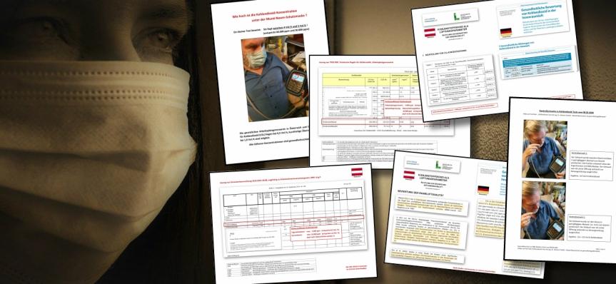 J'ai reçu le dossier complet sur la nocivité des valeurs de CO2 sous les masques, fourni par l'ing. Dr Helmut Traindl, expertassermenté