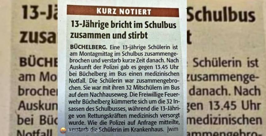 Tragique : Une écolière de 13 ans serait décédée en Allemagne à cause de l'exigence d'unmasque