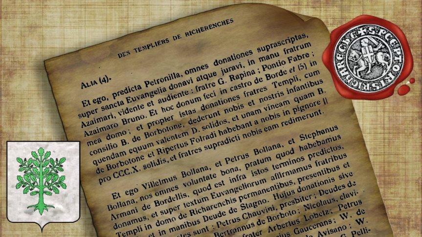 Les de Bouillanne, chevaliers Templiers de la Commanderie deRicherenches