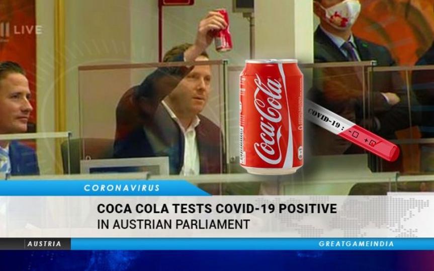 Besoin de preuves? Un parlementaire autrichien a révélé le caractère défectueux des tests COVID-19 en démontrant comment un verre de Coca Cola a été testé positif auCOVID-19