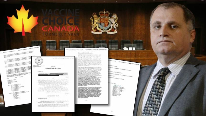 Une déclaration de réclamation a été déposée à la Cour supérieure de justice par Vaccine Choice Canada et Me Rocco Galati — MISE ÀJOUR