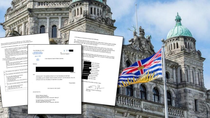 Une requête judiciaire a été déposée contre le gouvernement de la Colombie-Britannique pour restrictions abusives dans le cadre de laCovid