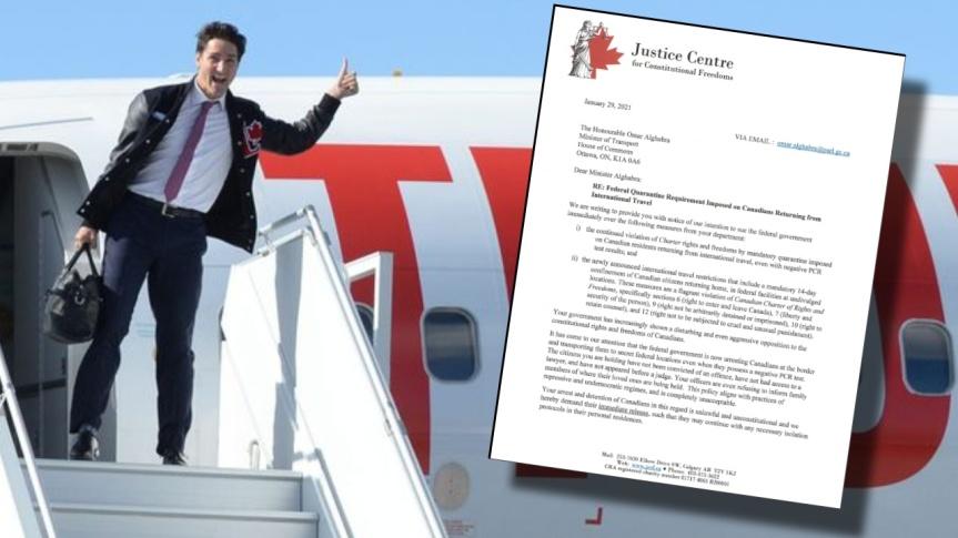Le gouvernement fédéral de Trudeau fait face à une poursuite imminente pour séquestration de voyageurs canadiens de retour aupays