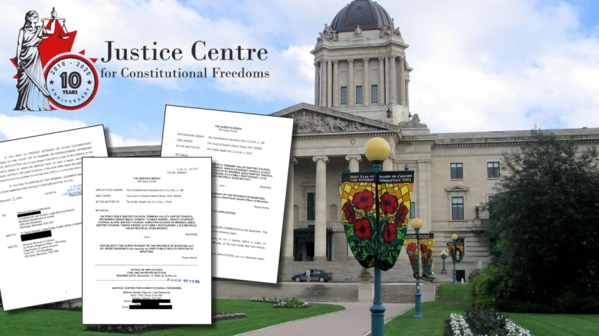 Une action en justice a été déposée devant la Cour du Banc de la Reine pour mettre fin à la violation des libertés des Manitobains(Canada)