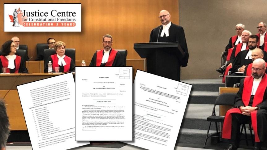 COVID-19 — Le Centre de justice pour les libertés constitutionnelles intente deux actions en justice devant la Cour fédérale duCanada