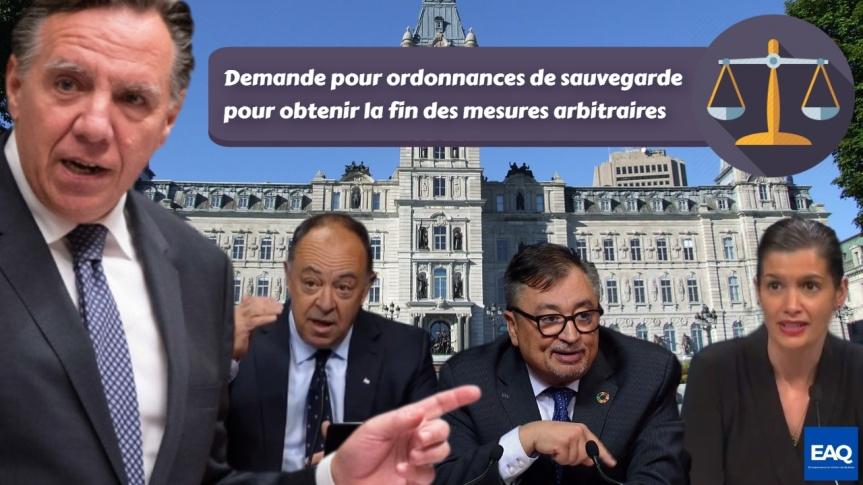 Demande pour ordonnances de sauvegarde : Entrepreneurs en Action du Québec (EAQ) demande la fin des mesuresarbitraires