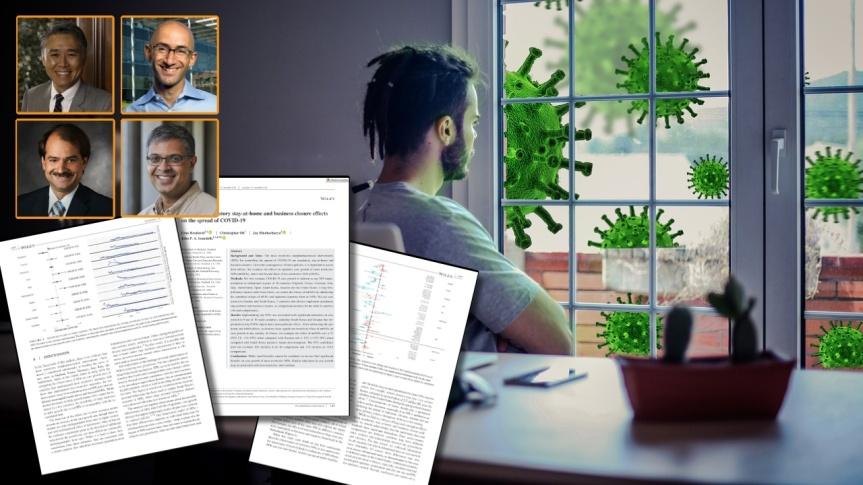 ÉTUDE — Évaluation des effets du confinement obligatoire au domicile et de la fermeture des entreprises sur la propagation de laCOVID-19