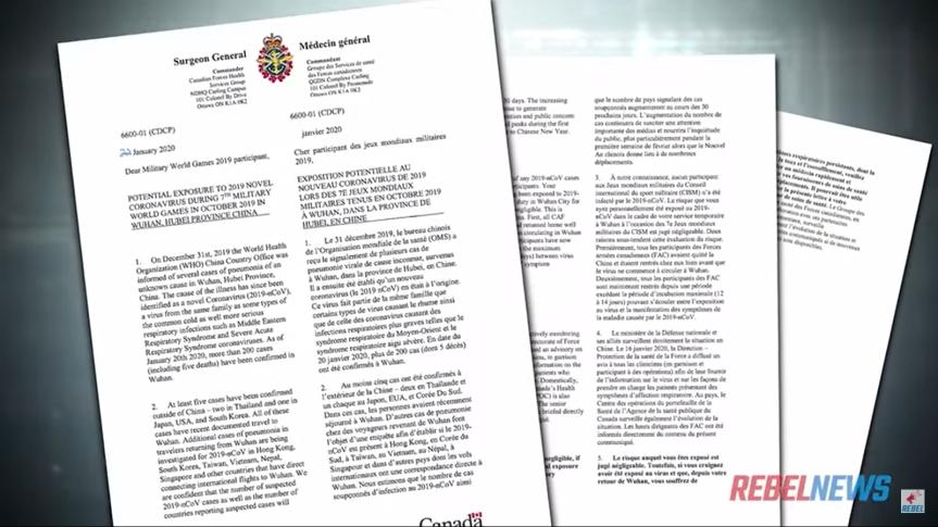 Dissimulation d'un scandale de dimension mondiale : le gouvernement de Trudeau a aidé la Chine à cacher les origines de laCovid-19