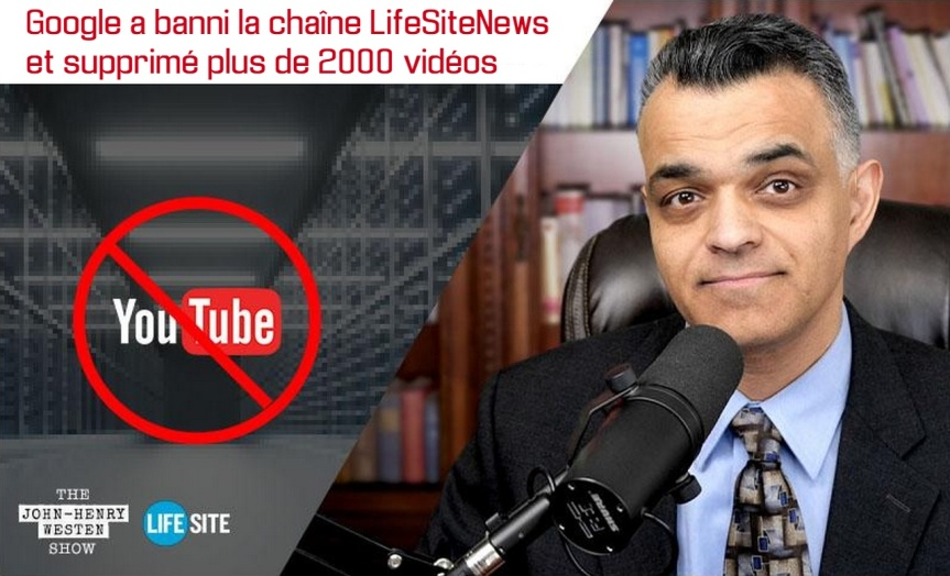 Suite à l'élection de Joe Biden, Google a banni la chaîne LifeSiteNews et supprimé plus de 2000 vidéos de YouTube avec plus de 314 000abonnés