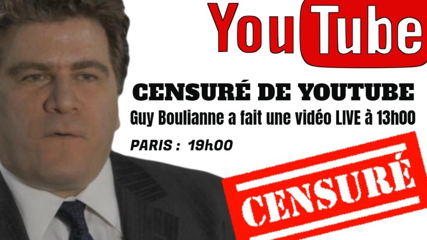Youtube a complètement fermé ma chaîne et retiré l'ensemble de mes vidéos. J'ai fait une vidéo en direct le 1er février à 13H00 (Paris19H)