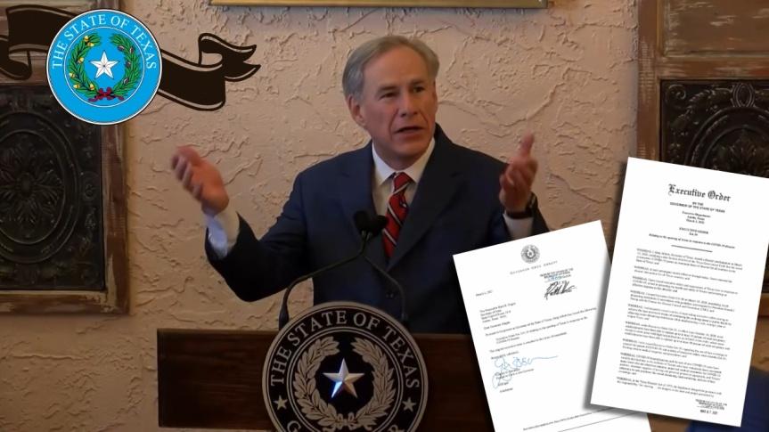 BONNE NOUVELLE — Le gouverneur républicain et catholique, Greg Abbott, met fin au mandat du masque COVID-19 et ouvre le Texas à100%
