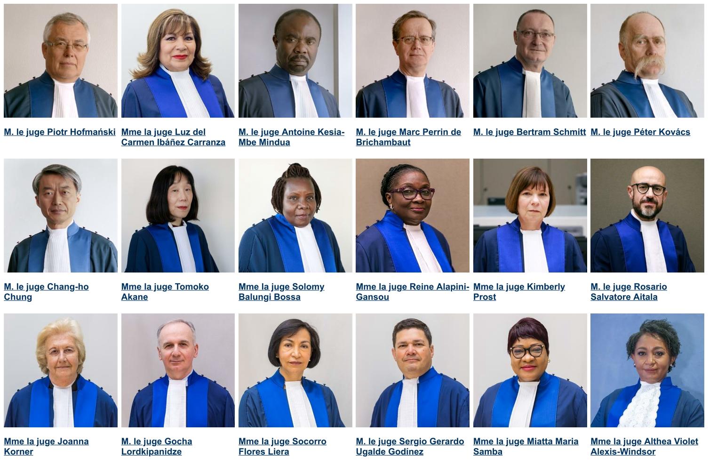 Les juges de la Cour pénale internationale de La Haye