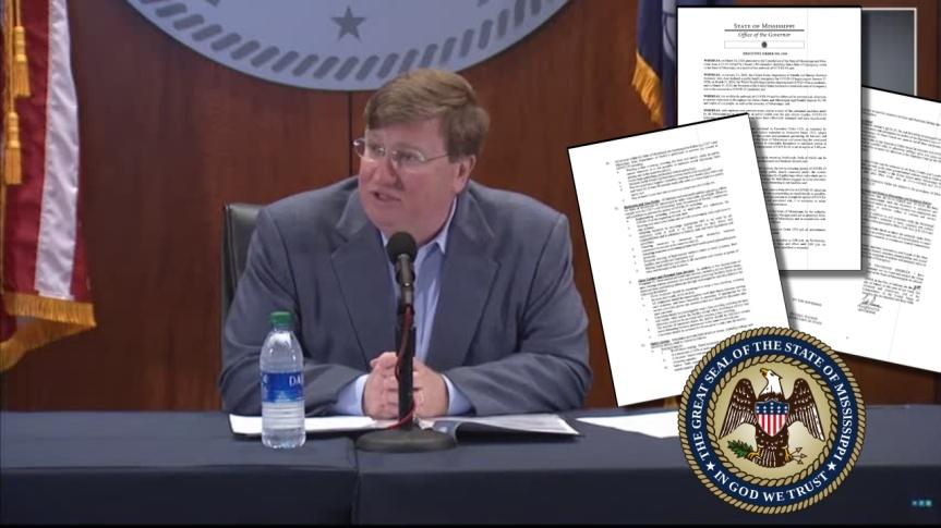 Le gouverneur du Mississippi, Tate Reeves, met fin à l'obligation du masque et aux restrictions COVID dans les entreprises et lesrestaurants