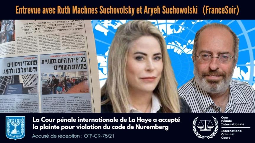 La plainte devant le Tribunal de La Haye — Entrevue en français avec les avocats Ruth Machnes Suchovolsky et AryehSuchowolski