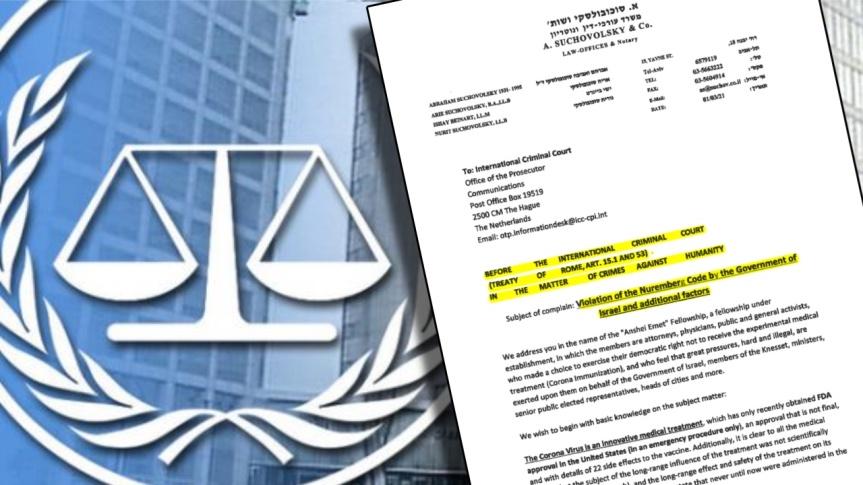 Un recours judiciaire est maintenant déposé devant la Cour pénale internationale de La Haye pour violations du code de Nuremberg et crimes contre l'humanité par le gouvernementisraélien