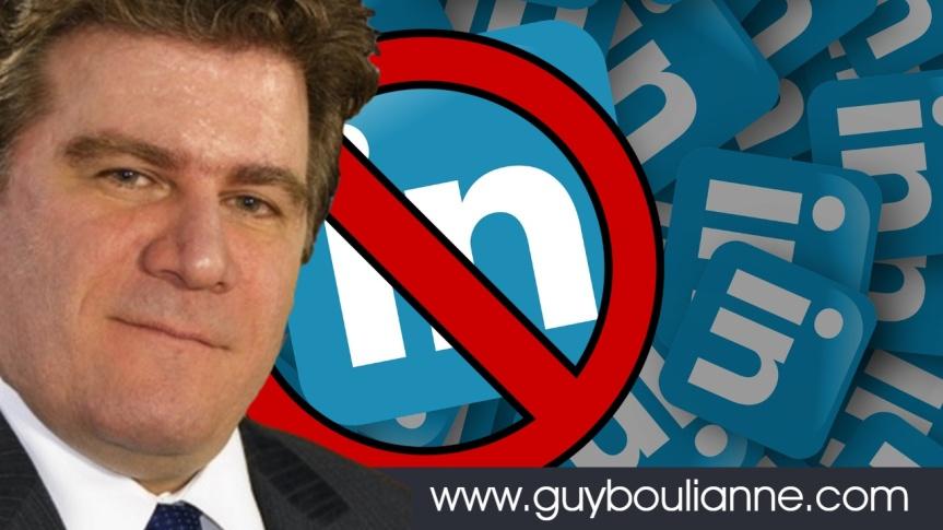 Le réseau professionnel LinkedIn a fermé à son tour le compte de Guy Boulianne : « Il est clair qu'on veut définitivement me faire taire !»