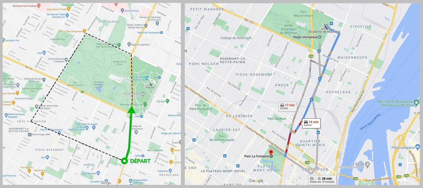 Manifestations du 1er mai 2021 - Parcours