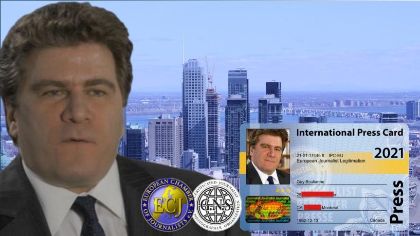 """Guy Boulianne a obtenu son accréditation en tant que journaliste indépendant de la """"General News Service Network Association"""" (GNSPress)"""