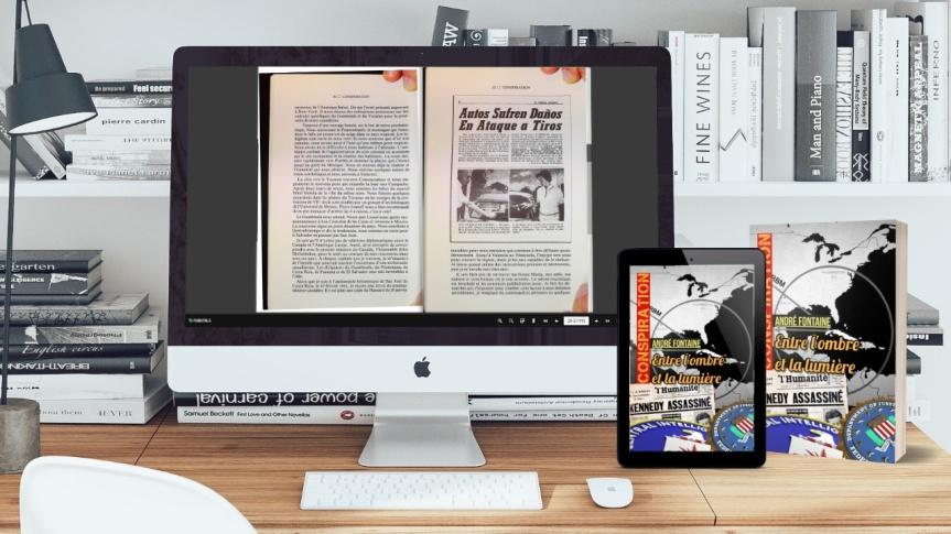 25 juillet 2021 – Guy Boulianne travaille à la mise en page et l'édition du livre de André Fontaine, «Conspiration : entre l'ombre et lalumière»