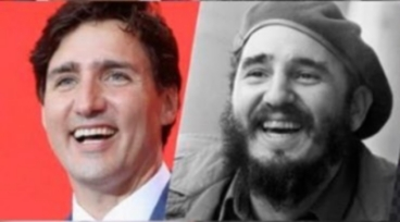 Justin Trudeau et Fidel Castro - 01