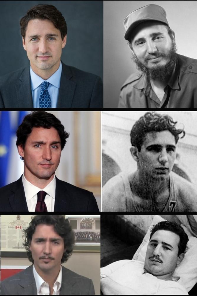 Justin Trudeau et Fidel Castro - 04