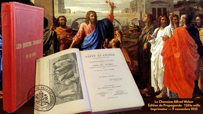 Guy Boulianne fait l'acquisition d'un livre rare de 1935 : Le Saint Évangile de Notre-Seigneur Jésus-Christ, ou les Quatre Évangiles en unseul