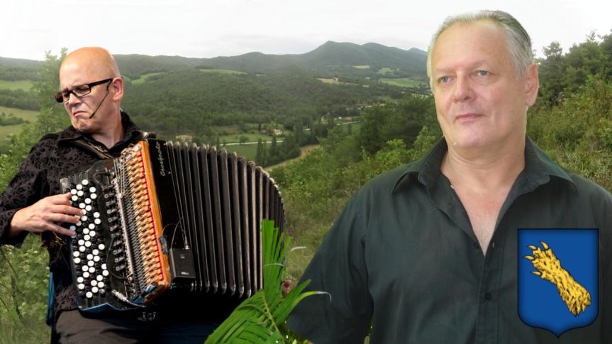 Le poète Patrick Bouillanne lira ses textes en compagnie du grand accordéoniste Daniel Mille, à Cobonne dans le département de laDrôme