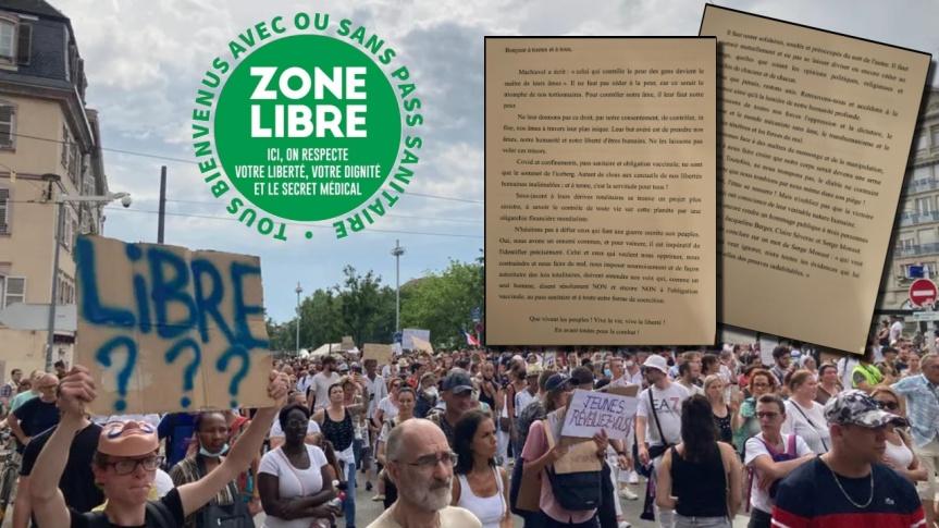 Une manifestation contre le passeport sanitaire aura lieu samedi le 31 Juillet prochain à 13h sur la place Kléber à Strasbourg, en France…