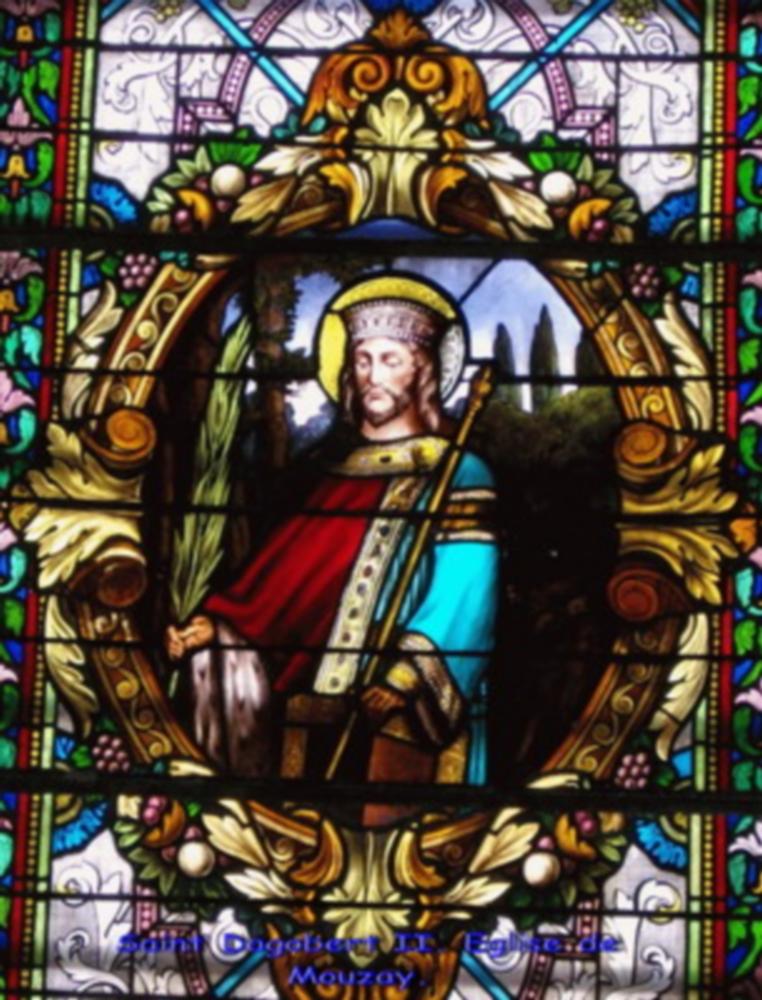 Dagobert II, vitrail Mouzay - 04
