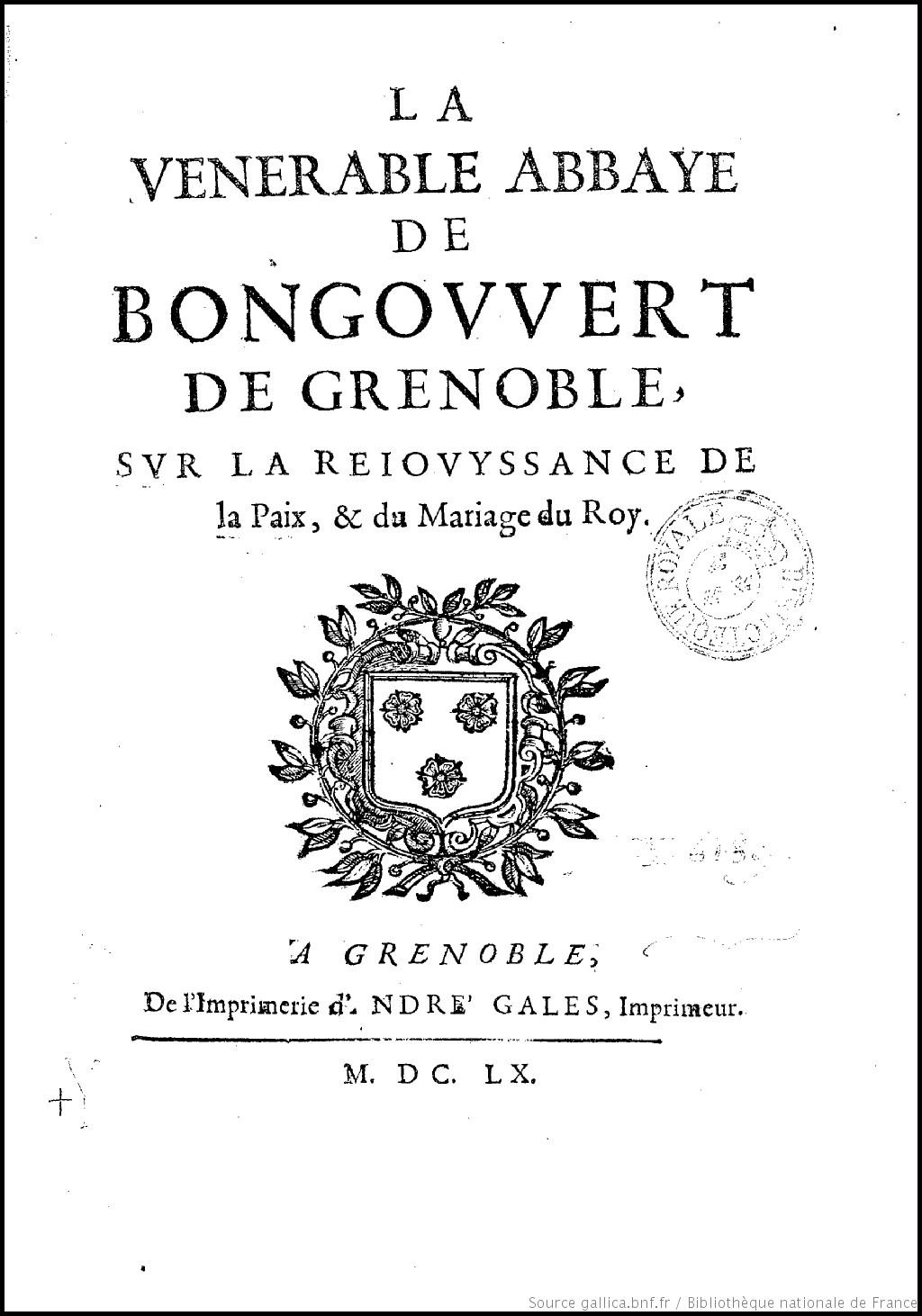La vénérable abbaye de Bongouvert de Grenoble